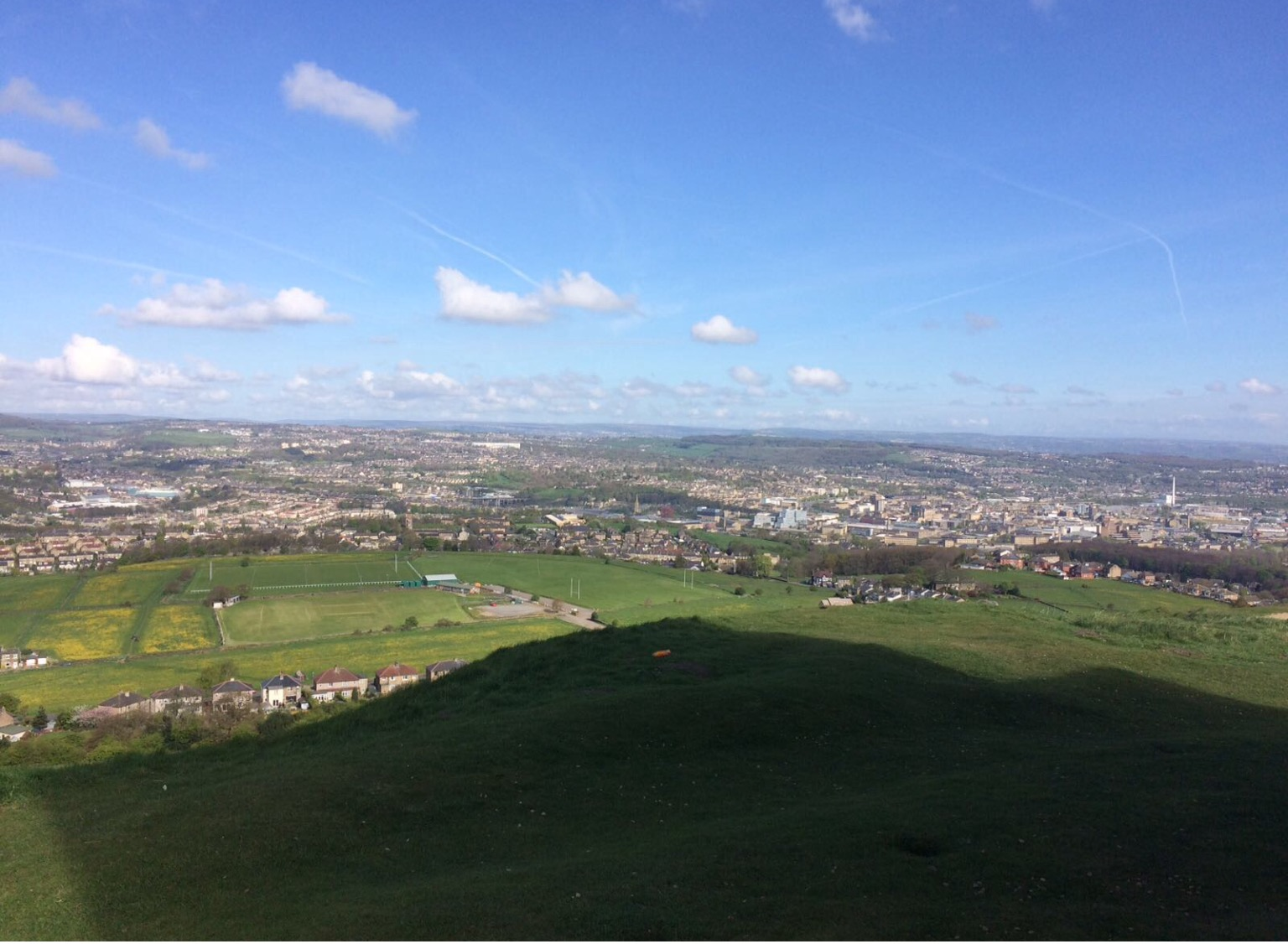 View over Huddersfield from Walk
